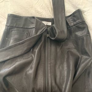100% real leather skirt